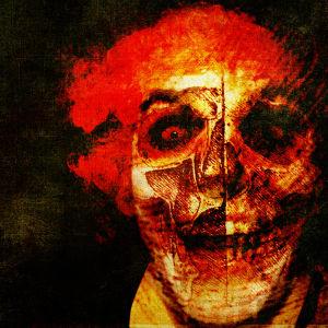 Bild på skrämmande clown
