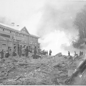 5.1.1940 Ilmapommituksen tuhoja Mikkelissä.