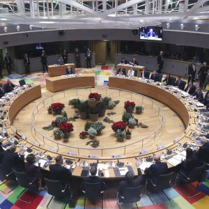 Eurooppaneuvoston kokous Brysselissä.