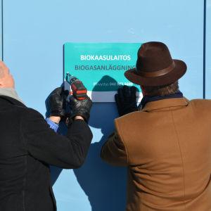 Biogasanläggning invigs
