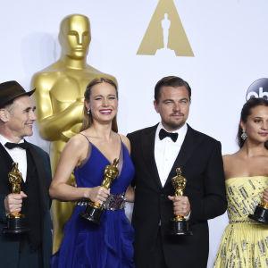 Oscarsvinnarna mark Rylance, Vrien Larson, Leonardo DiCaprio, Alicia Vikander