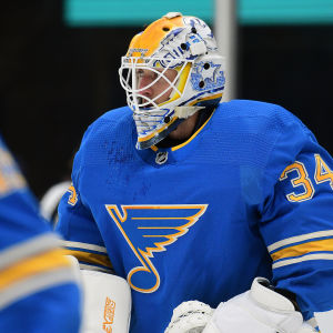St. Louis målvakt Jake Allen på isen.
