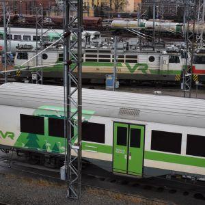 1980-luvulla valmistettu Eil-mallin lähijunavaunu Turussa