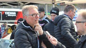Jyrki Järvilehto inför FM-serien i karting 2017.