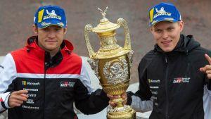 Kartläsaren Martin Järveoja och rallyföraren Ott Tänak byter stall.