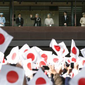 Kejsar Akihito firade sin 83-års fest i december tillsammans med kejsarinnan Michiko och sina barn