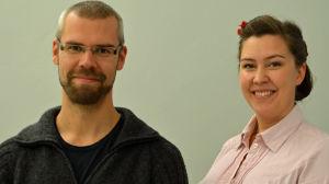 Tisdagssnackarna Kim Wikström och Charlotte Vainio.