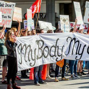 Abortförespråkare demonstrerar för lindrade abortlagar i Irland