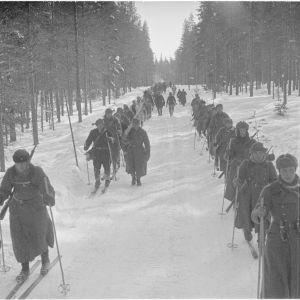 16.3.1940 65IR paluumatkalla Kuhmon Saunajärveltä.