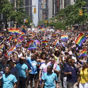 Viimevuotin4en Gay Pride -paraati keräsi jälleen runsaan osanoton New Yorkissa. Nyt seksuaalivähemmistöjä puolustava liike on saanut tärkeän oikeudellisen voiton.