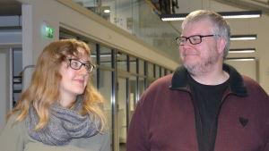 Frida Sjögren och Stefan Willför