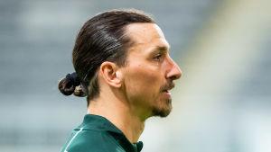 I april tränade Zlatan Ibrahimovic med allsvenska Hammarby.