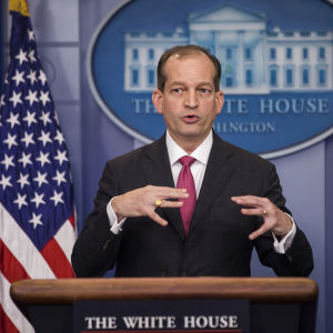Acsta på presskonferens i Vita huset