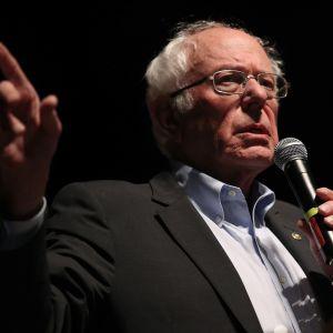 Bernie Sanders i kampanjevenemang i Iowa i januari 2020.
