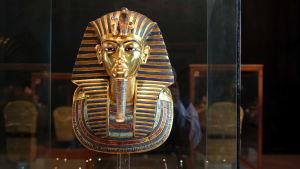 Tutankhamons mask på Egyptiska museet i Kairo i november 2014