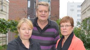 Från vänster: Pia Johansson, Rolf Streng och Kerstin Häggblom