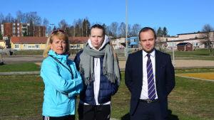 Sonja Deniel, Fanny Kesti och Marcus Beijar.