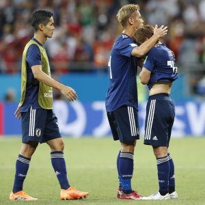 Förkrossade japanska spelare