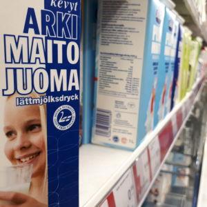 Den blå svanen visar att produkten kommer från Finland.