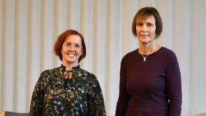 Porträtt av Pernilla Lindroos och Annika Hitonen.