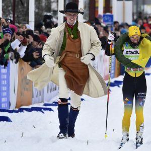 Lina Korsgren vinner Vasaloppet 2020.