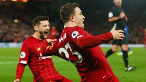 Xherdan Shaqiri firar i Liverpool.