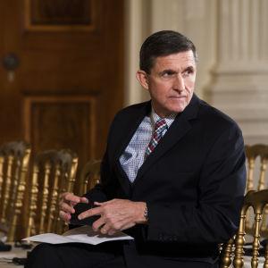 Michael Flynn, Donald Trumps säkerhetsrådgivare har avgått februari 2017