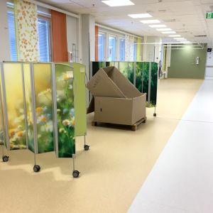 Päiväsairaalan huone Kainuun keskussairaalassa