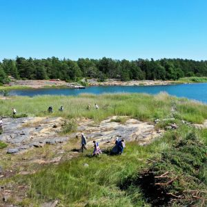 Laiduntalkoot Katanpään saarella Kustavissa.