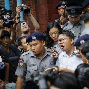 Wa Lone är en av de två Reuters journalister som dömdes till sju års fängelse