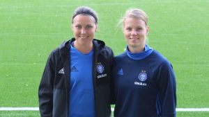 Minna Meriluoto och Maija Saari.
