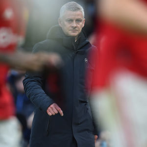 Manchester Unitedin manageri Ole Gunnar Solskjär sunnuntain Liverpool-ottelun jälkeen.