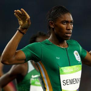 Caster Semenya Rion olympialaisissa.