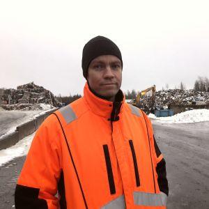 Tommy Nordström, driftschef på Ekorosk.