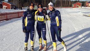 Emma Sjölund, Andrea Julin och Julia Häger