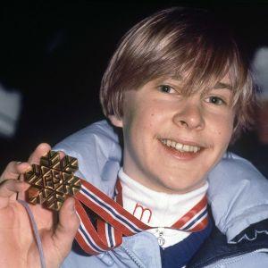 Matti Nykänen vann VM-guld i Oslo 1982.