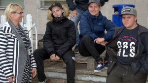 Elisabeth Henriksson, Rasmus Henriksson, Fredrik Smirnoff, Jesper Savolainen och Oskar Schöring.