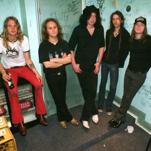 The Hellacopters backstage 2003.