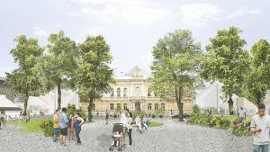 Uusi kaupunki-kollektiviets vision för Stadshuset.