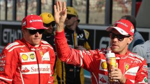 Kimi Räikkönen och Sebastian Vettel.