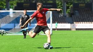 Joel Mattsson under HIFK:s träning 2020.