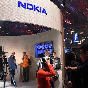 Nokias stand på Slush-evenemanget 2015 i Helsingfors