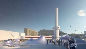 Amos Anderssonin uuden museon havainnekuva