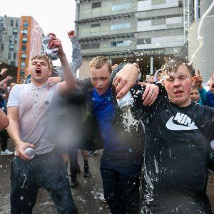 Newcastlen fanit juhlivat 07.10.2021