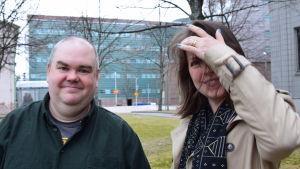 Johan Lindroos och Eva Frantz