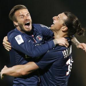 David Beckham och Zlatan Ibrahimovic.