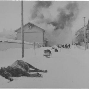 3.2.1940 Pommituksen tuhoja Sortavalassa