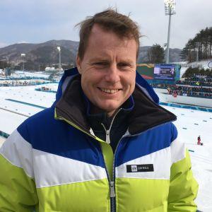 Glenn Lindholm vid OS i Pyeongchang.