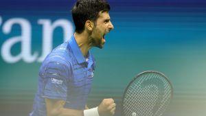 Novak Djokovic jublar.