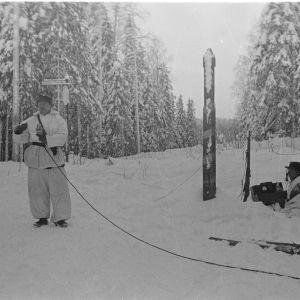 15.1.1940 Mikrofooni rajalla Lieksan suunnalla.